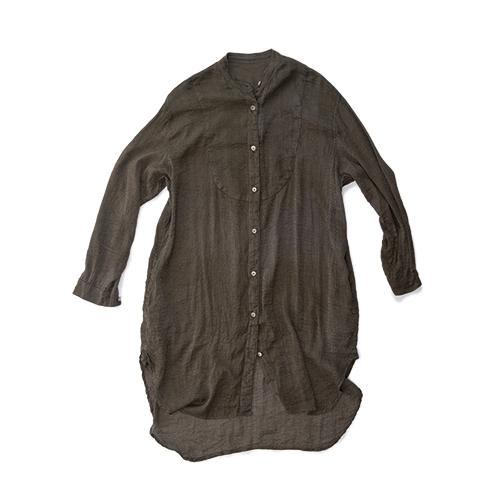 烏賊胸ビッグシャツ シルク