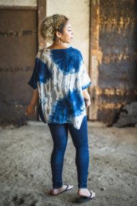 Big vest Indigo dye
