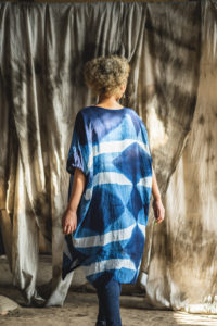 Pattern dyed dress