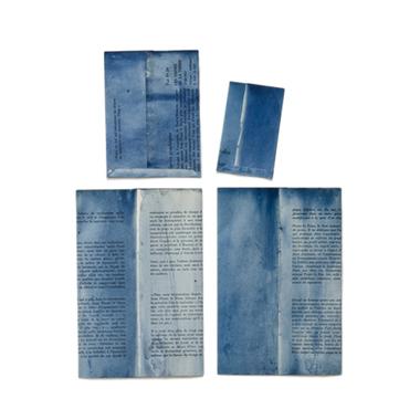古書藍染封筒