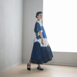KAKU Dress 3Tone Shibori