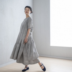 KAKU Dress  DARK INDIGO/LIGHT GRAY